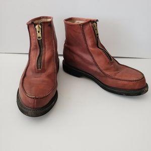 Double H Leather Zip Top Boots Sz.13 D